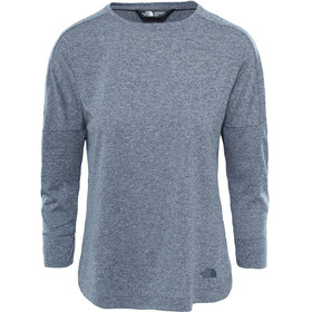 The North Face W's Inlux 3/4 Sleeve Top Vanadis Grey Heather